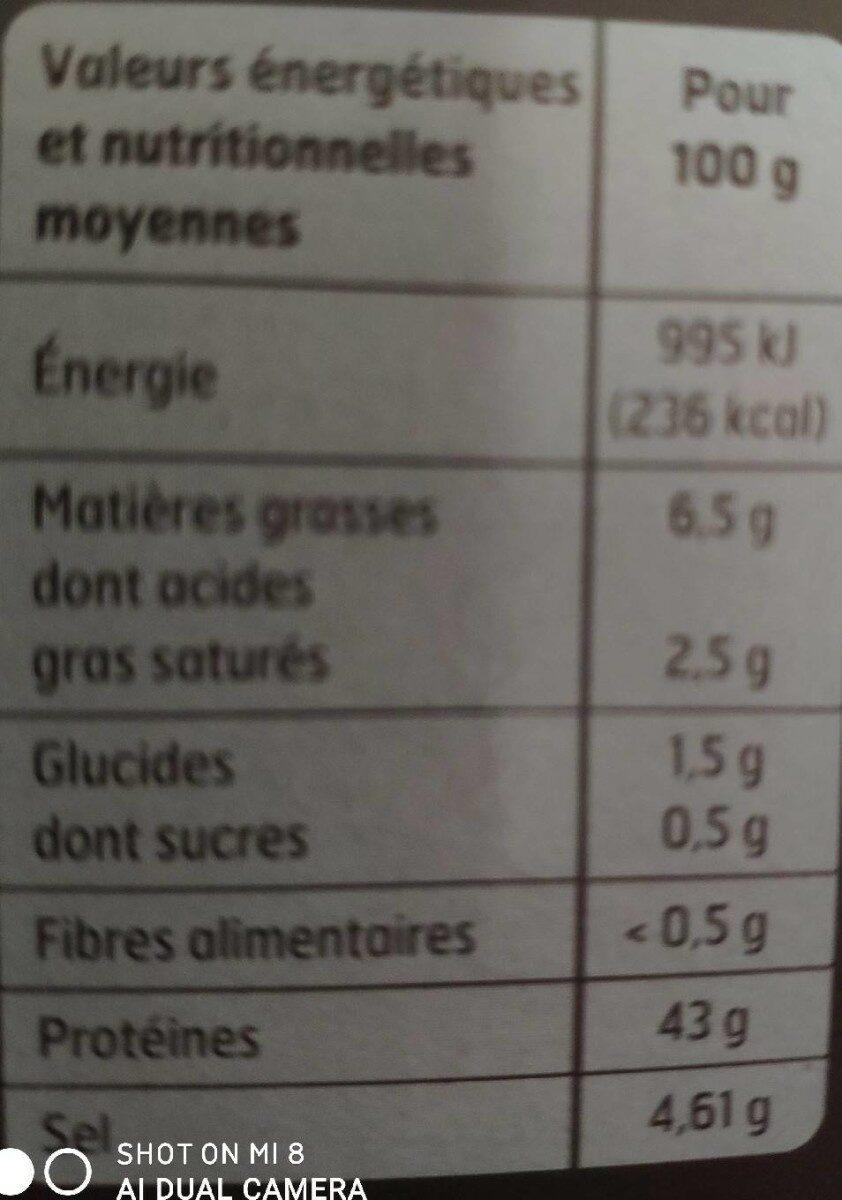 Spécialité de Saucisson au Jambon - Informations nutritionnelles - fr
