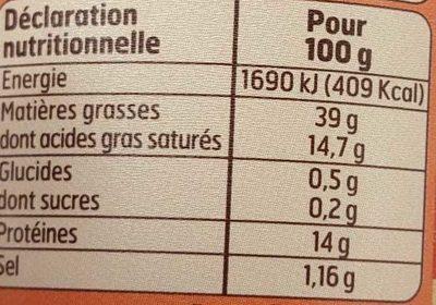 Rillettes du Mans - Informations nutritionnelles - fr