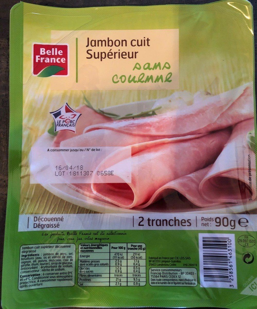 Belle France Jambon cuit Supérieur sans couenne - Product - fr