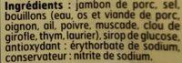 Belle France Jambon cuit Supérieur sans couenne - Ingrediënten - fr
