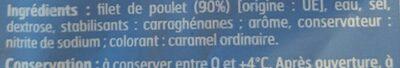 Poulet Qualité supérieure - Ingrediënten