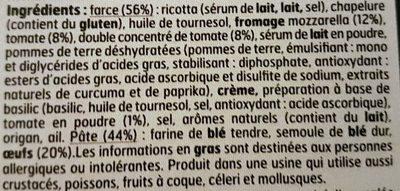 Girasole Tomate à la Mozzarella - Ingrédients - fr