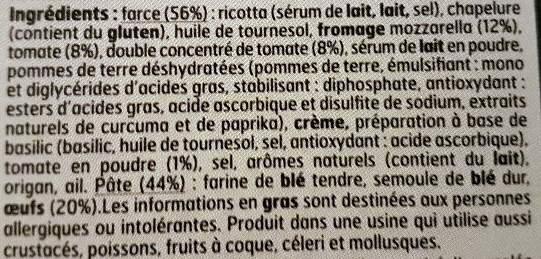 Girasole Tomate à la Mozzarella - Ingredients - fr