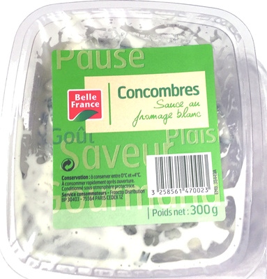 Concombres sauce fromage blanc - Product