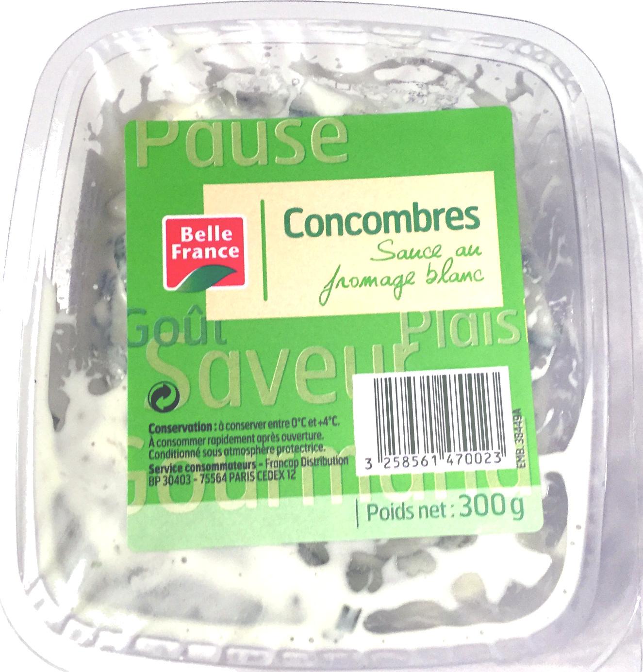concombres sauce fromage blanc belle france 300 g. Black Bedroom Furniture Sets. Home Design Ideas