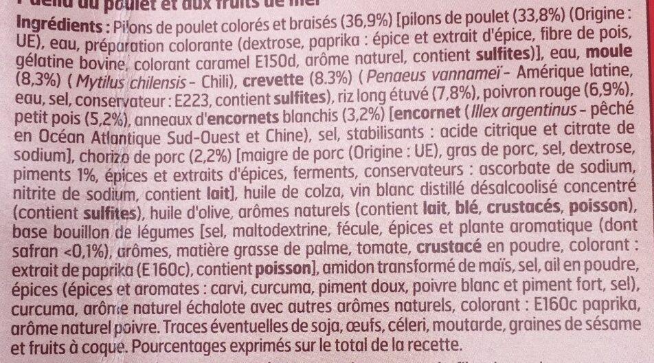 Paella - Ingrediënten