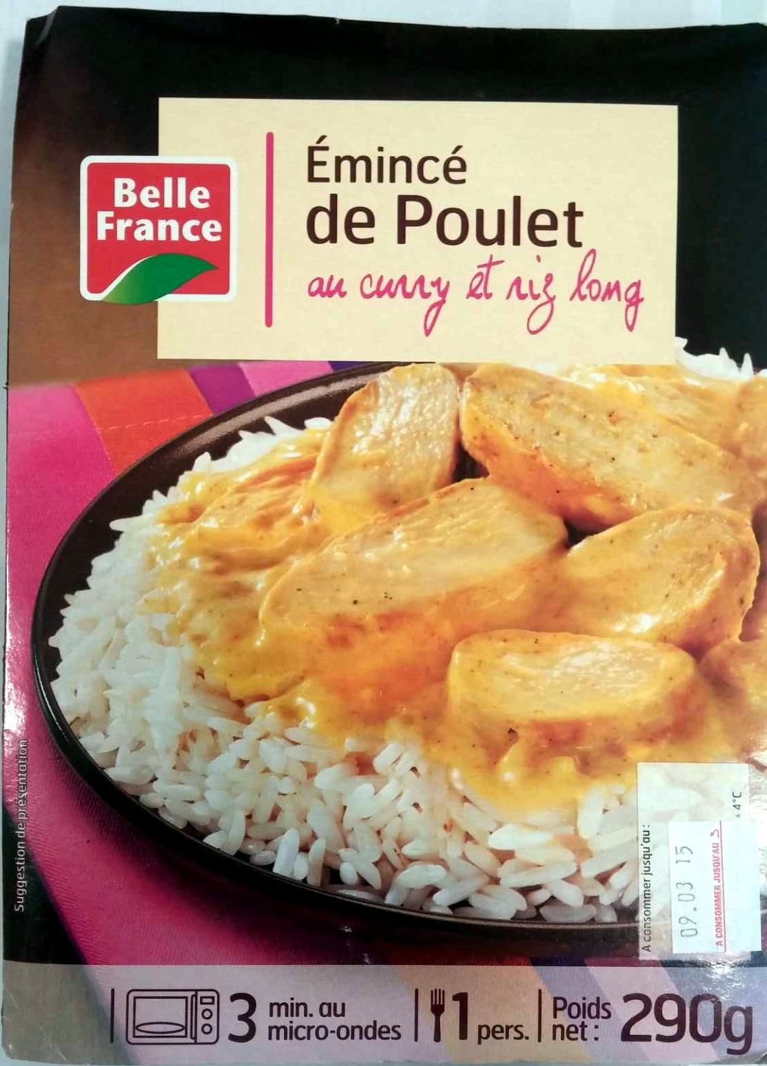 Émincé de Poulet au curry et riz long - Product - fr