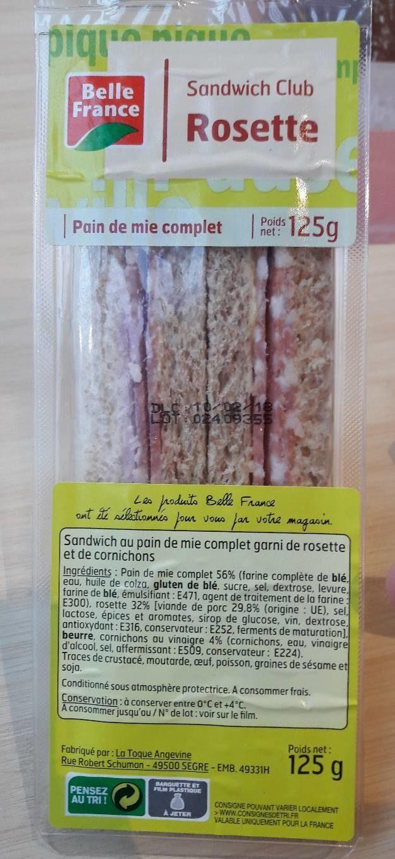 Sandwich Club Rosette - Produit - fr