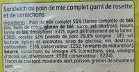 Sandwich Club Rosette - Ingrédients - fr