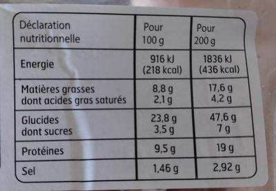 Sandwich Maxi Jambon crudités emmental - Informations nutritionnelles