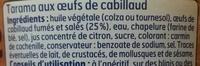 Tarama aux œufs de cabillaud (25 %) - Ingrediënten - fr