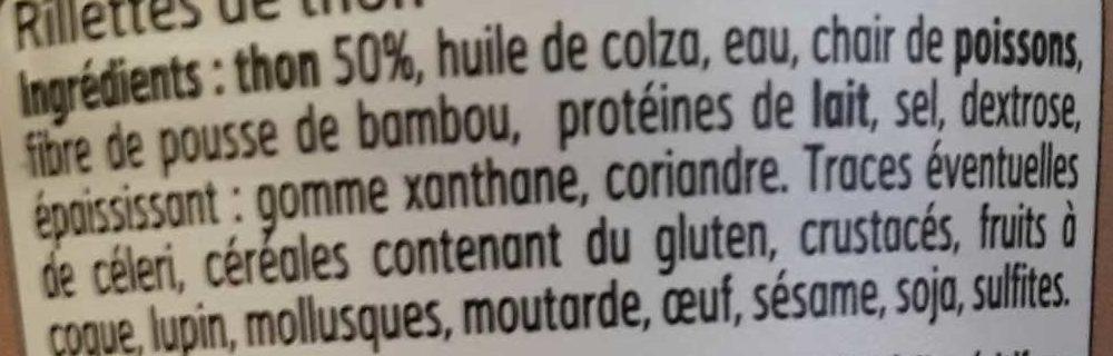 Rillettes de Thon - Ingredients - fr