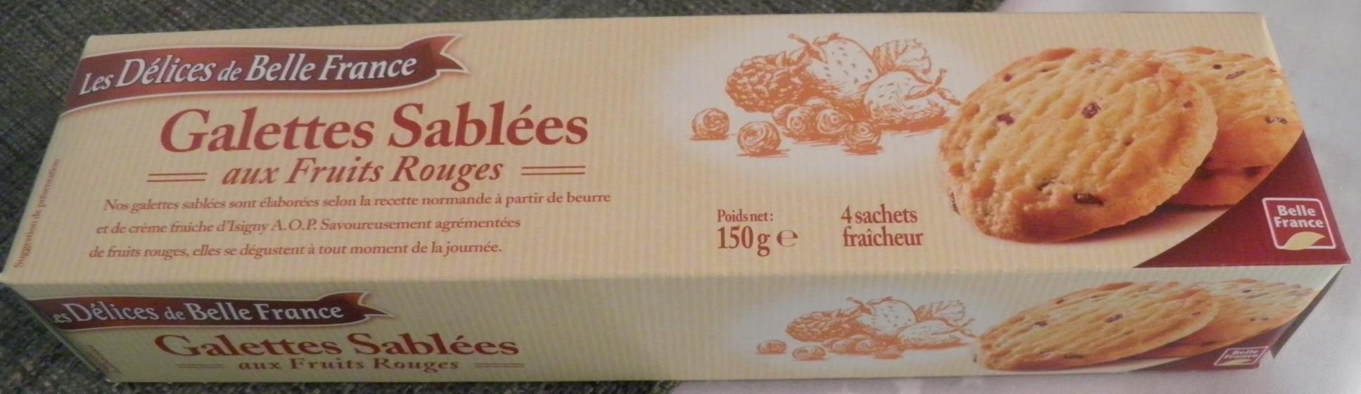 Galettes Sablées aux Fruits Rouges - Produit