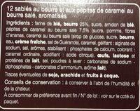 Galettes sablées caramel au beurre salé - Ingrédients - fr