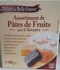 Assortiment de pâtes de fruits aux 6 saveurs - Product