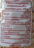 Macaroni - Informations nutritionnelles - fr