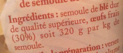 Nids moyen - Ingrediënten