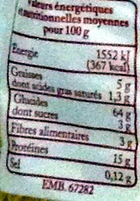Torsades Pâtes d'Alsace (7  œufs frais au kilo) - Voedingswaarden - fr