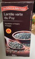 Lentilles verte du Puy - Produit