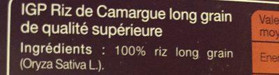Riz de Camargue long grain - Ingrediënten