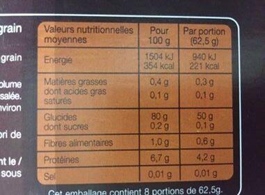 Riz de Camargue long grain - Voedigswaarden