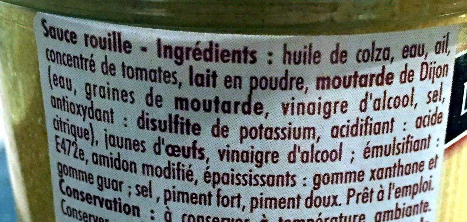Sauce rouille à la Sétoise - Ingrédients - fr