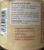 Fleur de Sel de Guérande - Ingrédients
