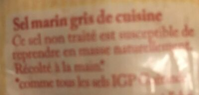 KG Sac Sel Gros Guer. DBF - Ingredientes - fr