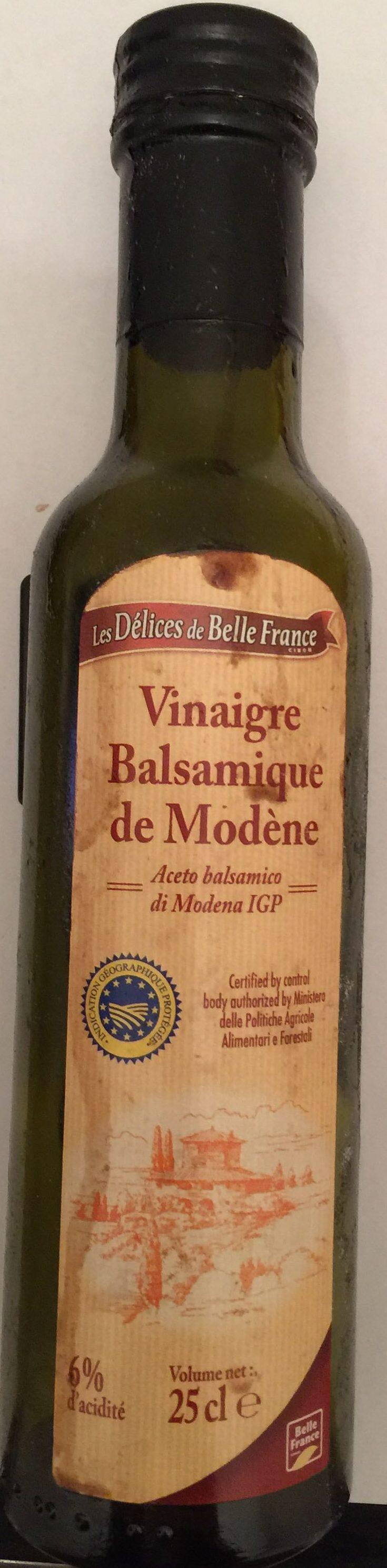Vinaigre balsamique de mod ne les d lices de belle france 25 cl - Vinaigre balsamique calorie ...