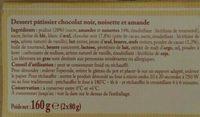 Croustillant chocolat noisette amande - Ingrédients