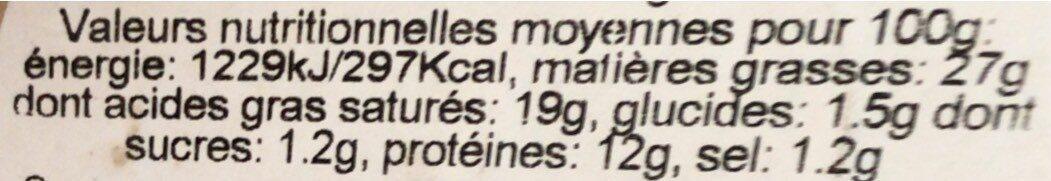 Saint felicien - Informations nutritionnelles - fr