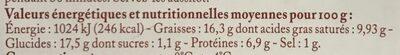 4 quenelles lyonnaises - Informations nutritionnelles - fr