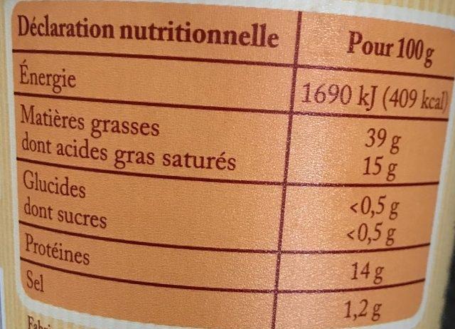 Rillettes du Mans à l'ancienne - Informations nutritionnelles - fr