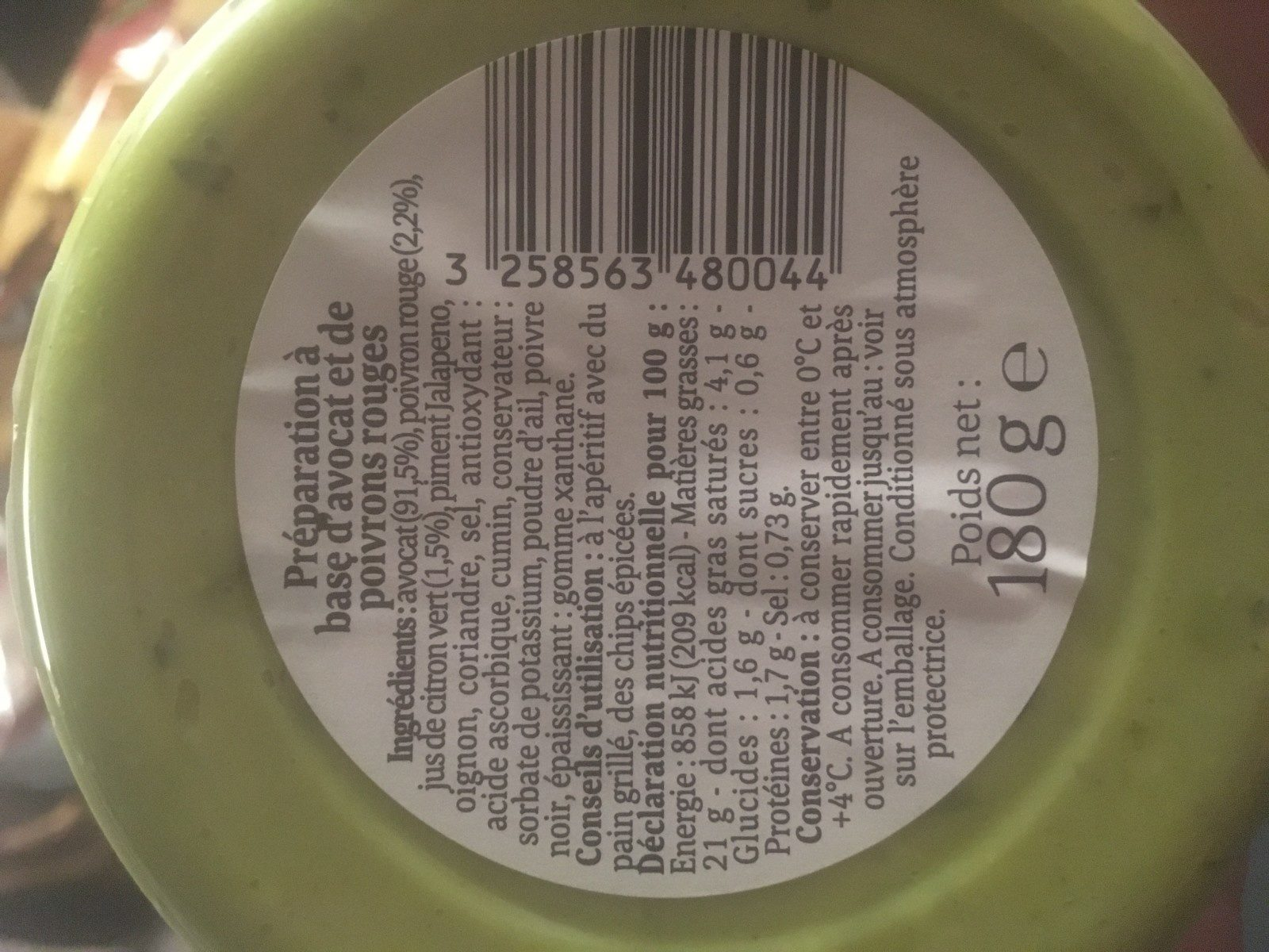 Guacamole premium - Ingredients - fr