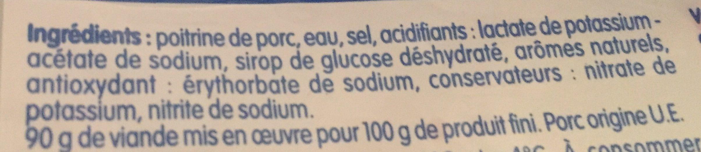 Lardons Nature - Ingrediënten