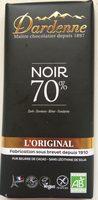 Chocolat noir 70% cacao - Produit