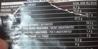Chocolat noir 71% aux huiles essentielles de menthe poivrée - Informations nutritionnelles - fr