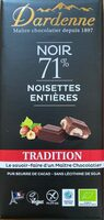 Noir 71% noisettes entières - Produit - fr