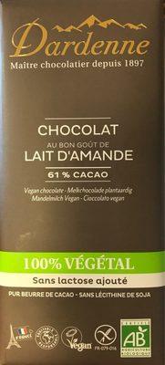 Chocolat Lait 100% Vegetal - Product - fr