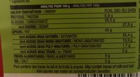 Chocolat Noir crunchy de marron - Informations nutritionnelles