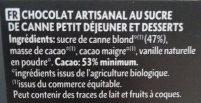 Chocolat petit déjeuner - Ingredienti - fr
