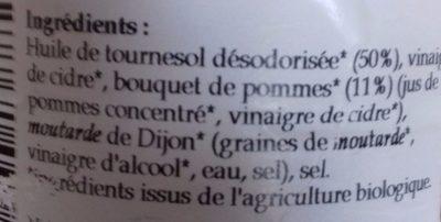 Sauce Vinaigrette Bouquet de Pommes - Ingredients - fr