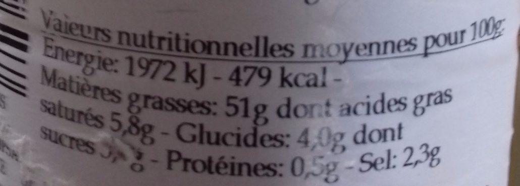 Sauce Vinaigrette Bouquet de Pommes - Informations nutritionnelles - fr