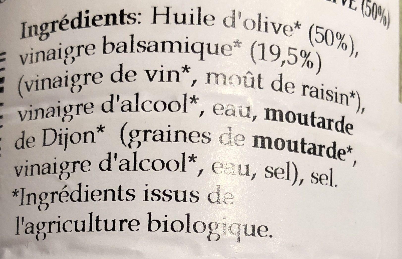 Sauce vinaigrette balsamique - Ingrédients - fr