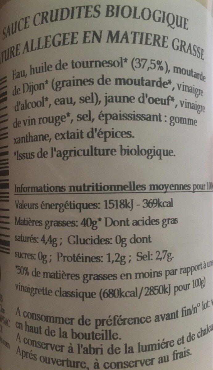 Vinaigrette - Informations nutritionnelles - fr