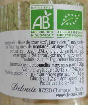 Mayonnaise Thaï - Informations nutritionnelles - fr