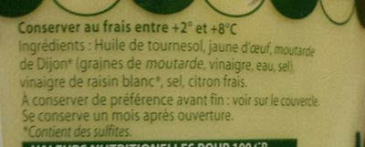 Delouis Fils Fresh Traditional French Mayonnaise - Ingrédients - fr