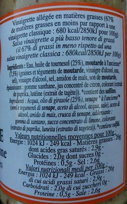 Vinaigrette Moutarde à l 'Ancienne - Ingrediënten - fr