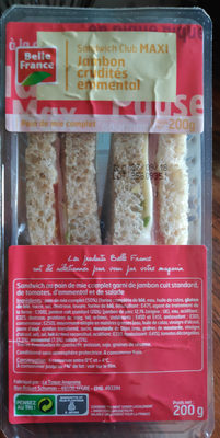 Sandwich Club Maxi Jambon crudités emmental - Product
