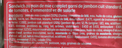 Sandwich Club Maxi Jambon crudités emmental - Ingredients